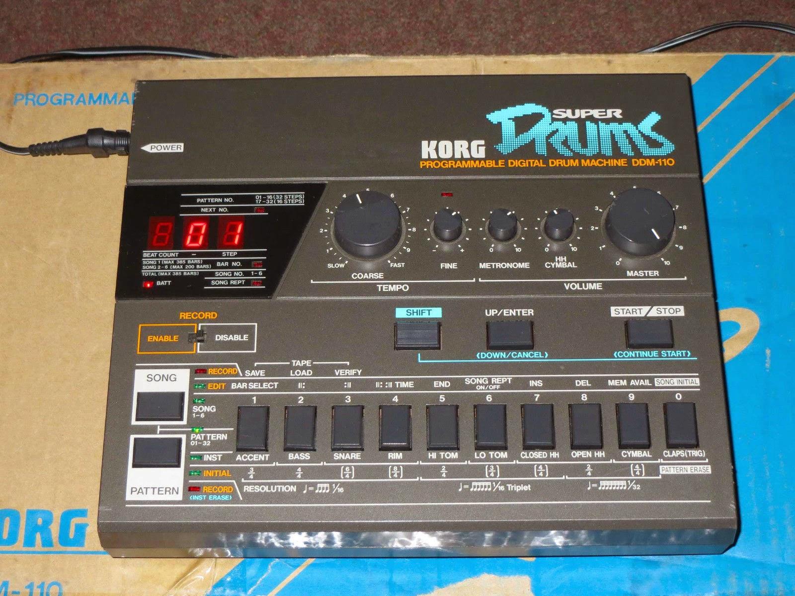 Best Drum Machine Electronic Music : jondent exploring electronic music korg ddm 110 digital drum machine ~ Russianpoet.info Haus und Dekorationen