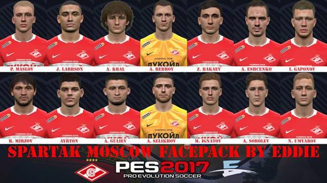 Spartak Moskwa Facepack 2020 V2 PES 2017