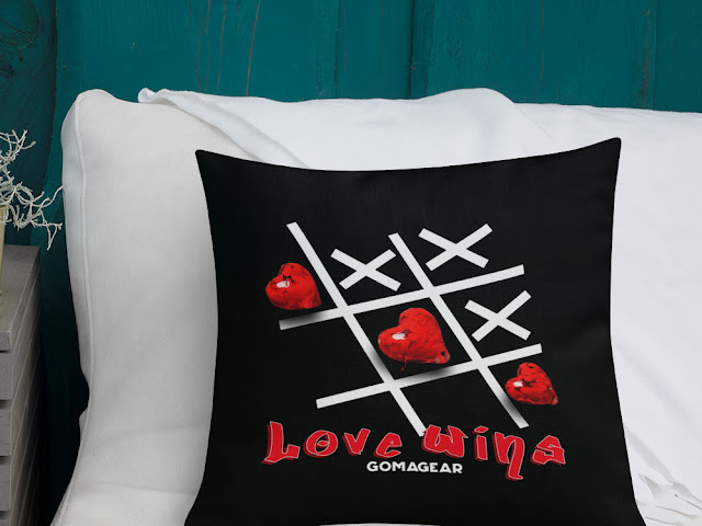 GOMAGEAR LOVE WINS PILLOW - SQUARE
