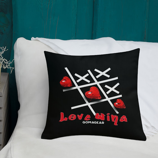 GOMAGEAR Love Wins Square Pillow