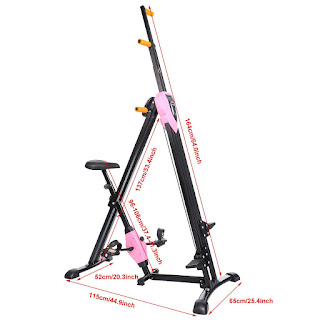 Ancheer Vertical Climber & Exercise Bike in 1 Machine, Dimensions, image