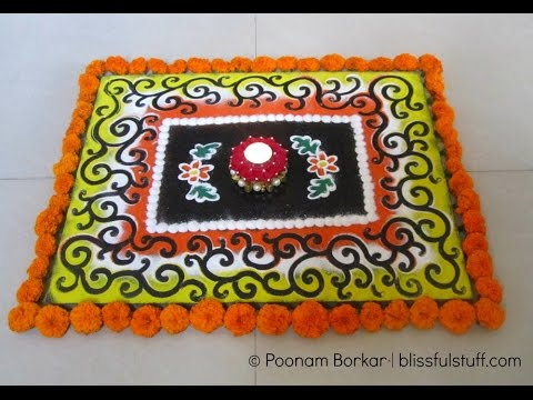 Easy and simple galicha style rangoli design Creative Rangoli Design for Diwali