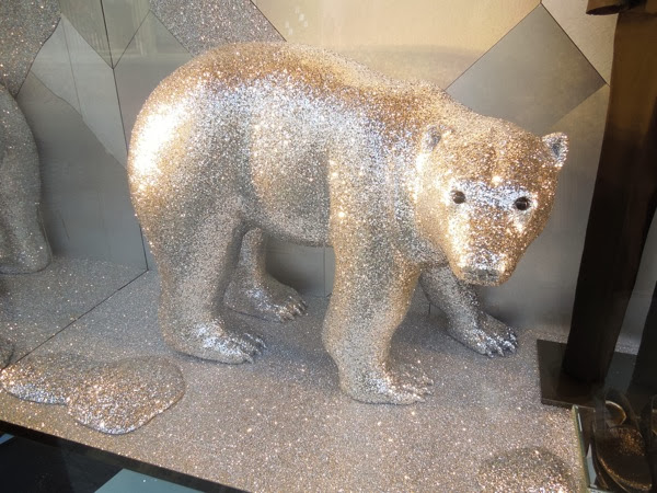 Roberto Cavalli Christmas window Polar Bear