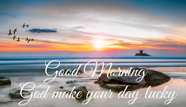 Good Morning God make your day lucky Good Morning Sea Image