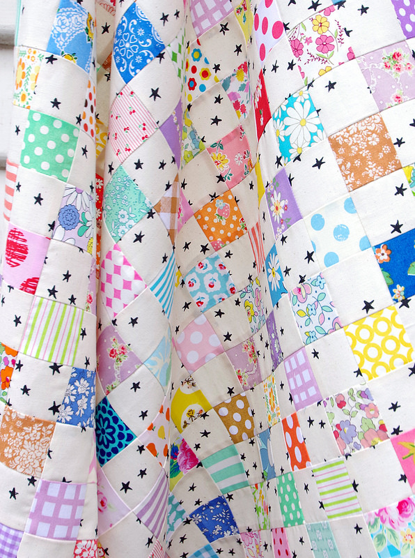 Twinkle Star Baby Quilt | Work in Progress | © Red Pepper Quilts 2017