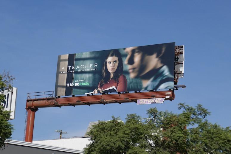 A Teacher TV series billboard