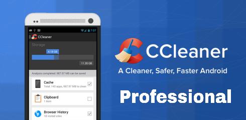 تحميل تطبيق سي كلينر بروفيشنال CCleaner Professional v4 لتنظيف وتسريع الهاتف الاندرويد