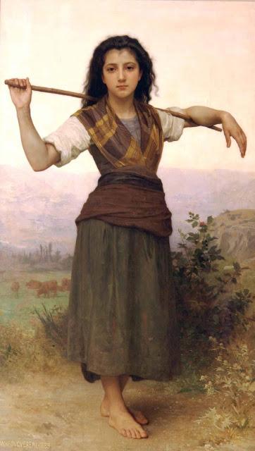 Адольф Вильям Бугро - Пастушка (1889)