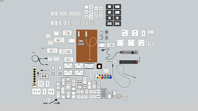 Electrical Switches Collection Free Sketchup Models , 3d free , sketchup models , free 3d models , 3d model free download