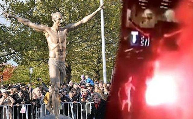 Patung Zlatan Ibrahimovic Dibakar-IGderdimizfutbol