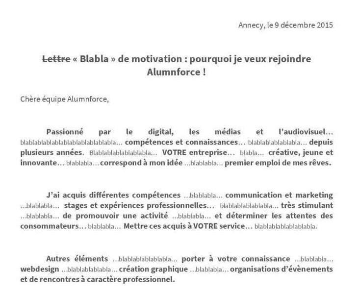 lettre de motivation originale et drole