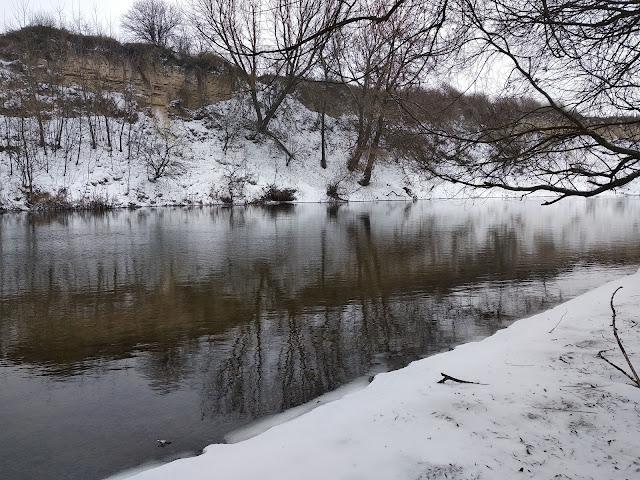 Зимові пейзажі на р. Стир