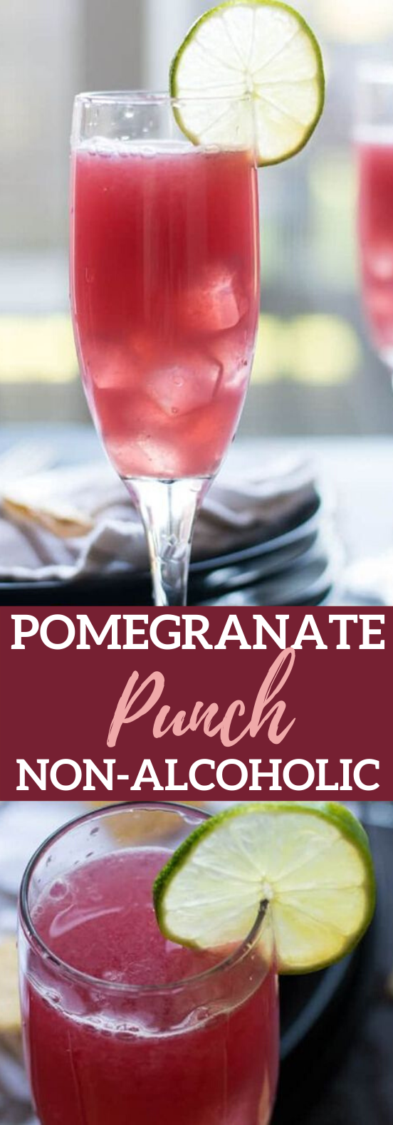 POMEGRANATE PUNCH #drinks #recipe #holiday #party #punch