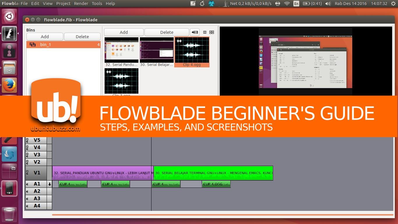 Beginner's Guide for Flowblade Video Editor