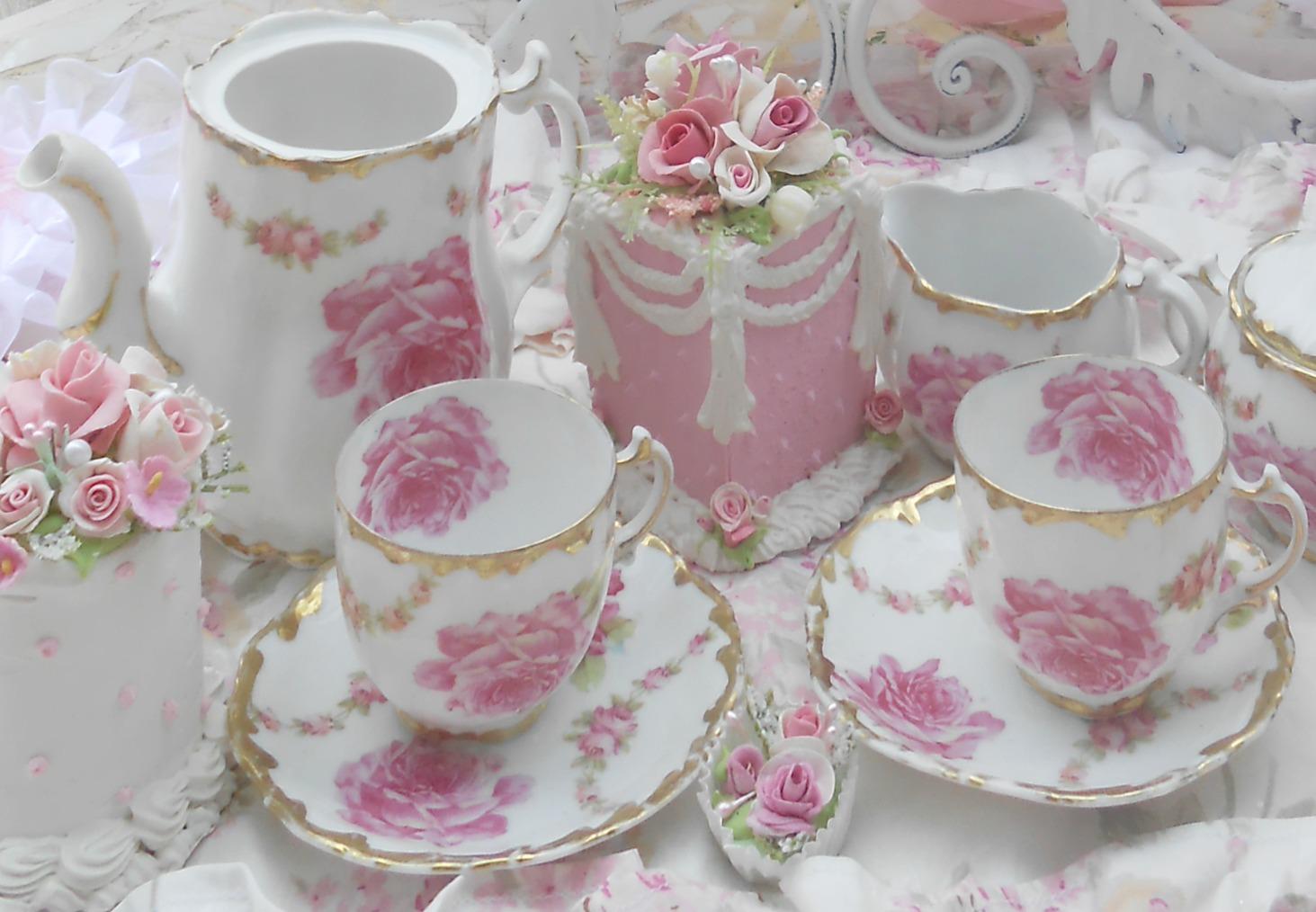 Teaparty: Olivia's Romantic Home: Rose Garden Tea Party