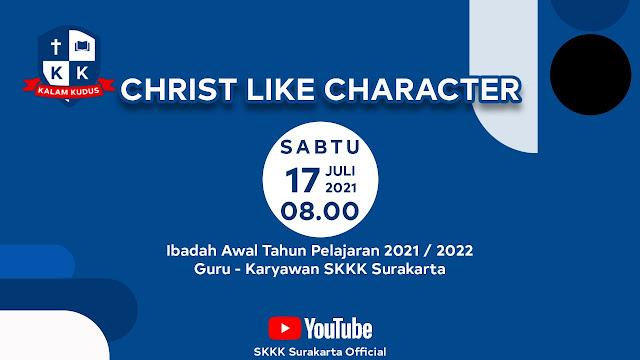 SKKK Surakarta Gelar Ibadah Awal Tahun Pelajaran 2021/2022