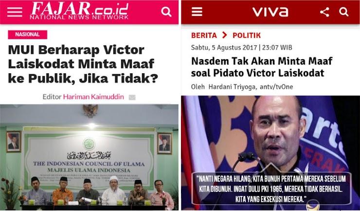 Tolak Saran MUI, Nasdem Tegaskan Tak Akan Minta Maaf soal Pidato Victor