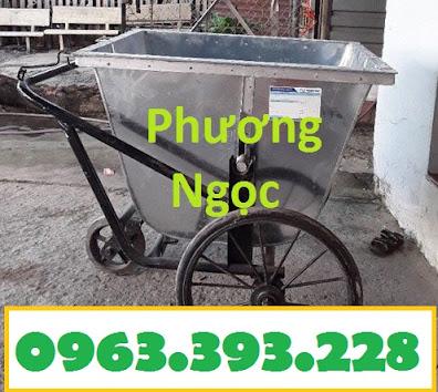 Xe gom rác bằng tôn 3 bánh, xe rác tôn 400 Lít, xe thu gom rác tôn, xe đẩy rác XRT400L2