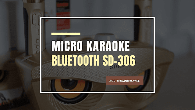 .Micro không dây tích hợp bluetooth SD-306 Có khả năng hát song ca trên cùng một bản nhạc