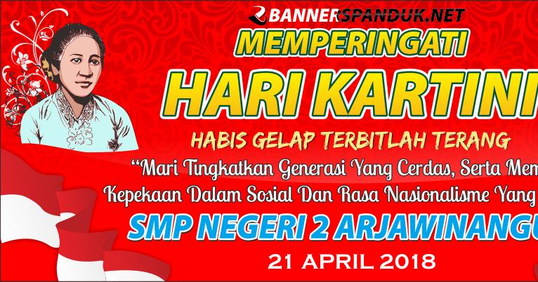 Desain Spanduk Hari Kartini dengan Tema Sekolah 2018 CDR ...