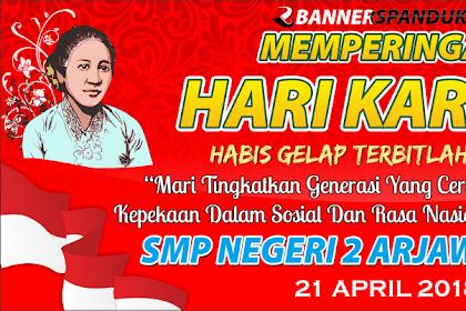 Desain Spanduk Hari Kartini dengan Tema Sekolah 2018 CDR