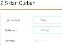 Bayar Zakat ke Baznas kini bisa di agen46 BNI
