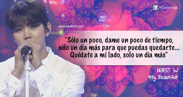 nuest w my beautiful frases kpop