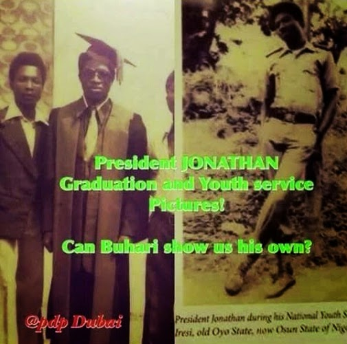 president Jonathan's graduation and youth service pictures