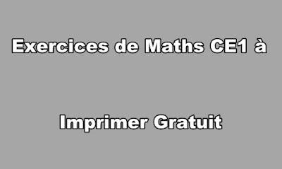 Exercices de Maths CE1 à Imprimer Gratuit