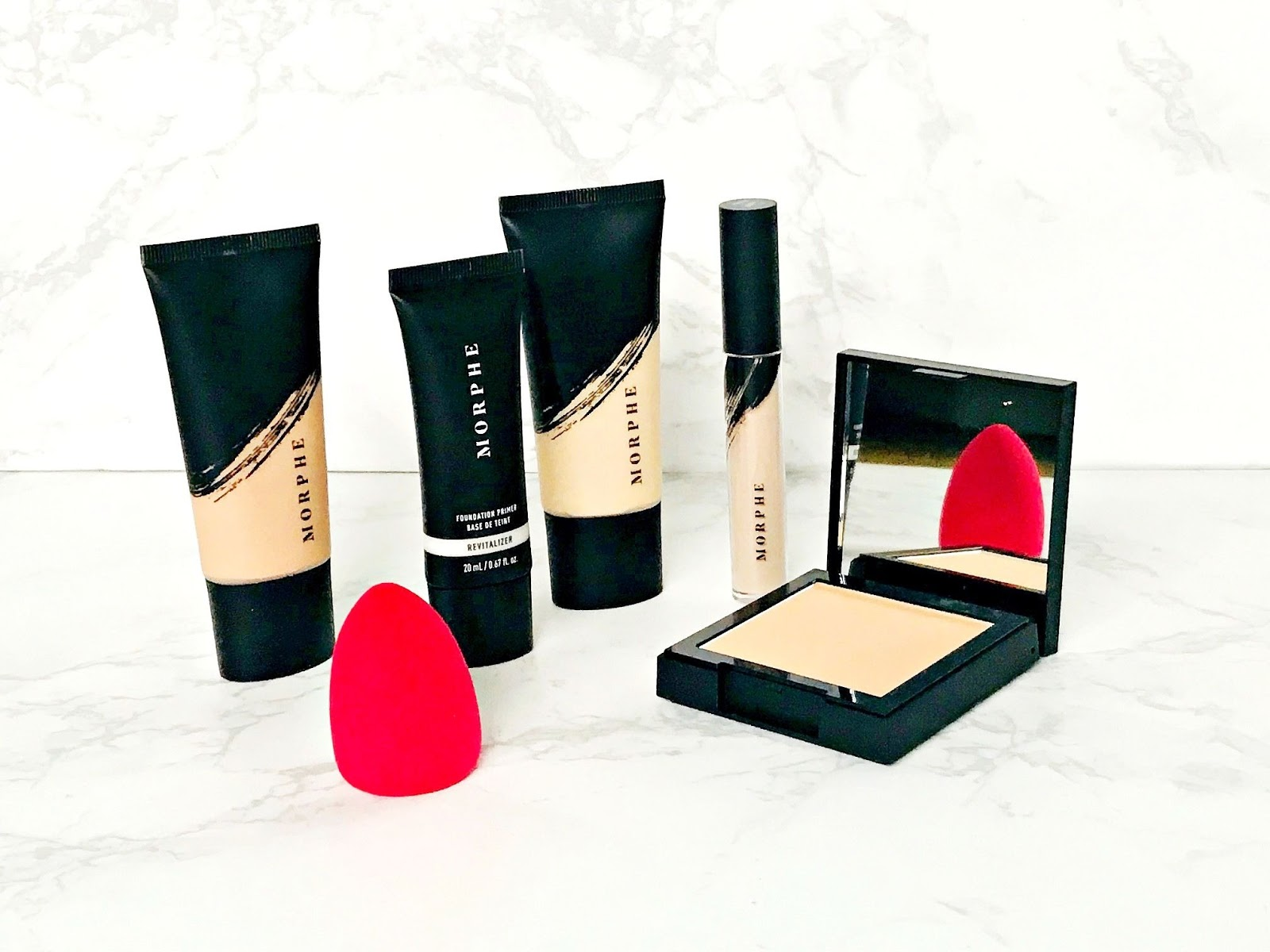 Morphe, Cult Beauty Brand of The Month, Morphe Fluidity Full Coverage Foundation, Morphe Liquid Full Coverage Concealer, Morphe Finishing powder, Morphe Foundation Primer