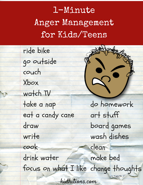 1 Minute Anger Management Activity For Kids And Teens