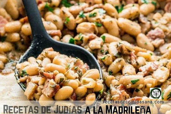 Receta de Judías a la Madrileña, se diferencia ya que se sirven sin nada de agua.