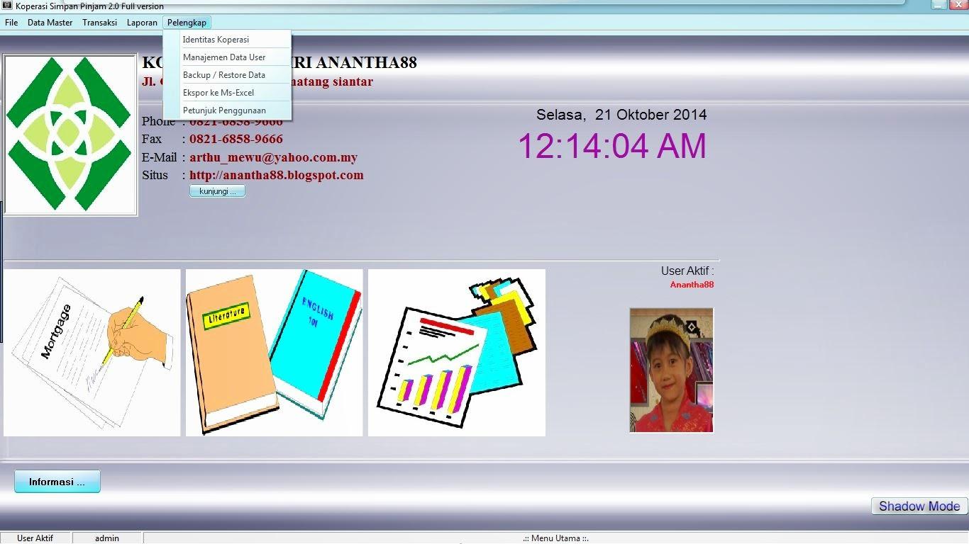 Anantha Blogspot Com Aplikasi Koperasi Simpan Pinjam 2 0 Full Version
