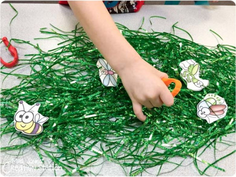 bug tweezer fine motor activity