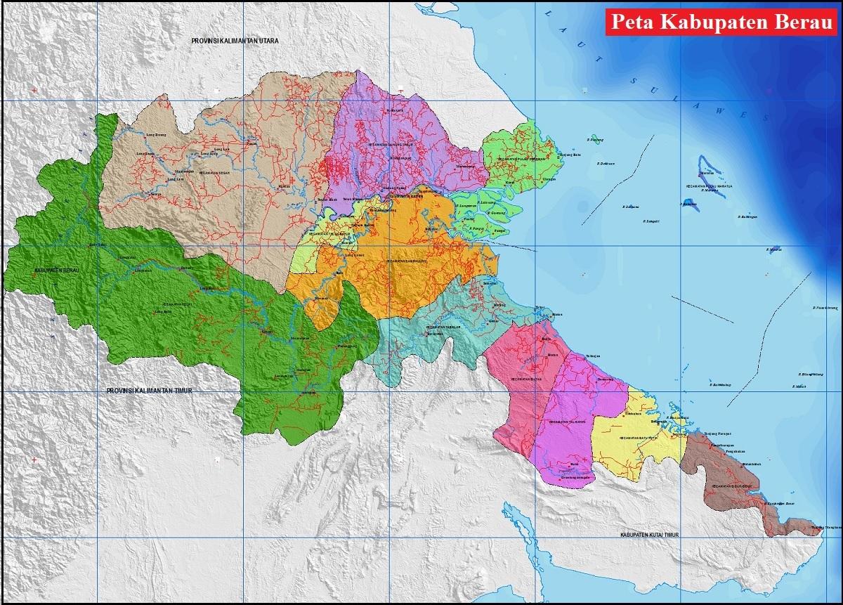 Peta Kabupaten Berau