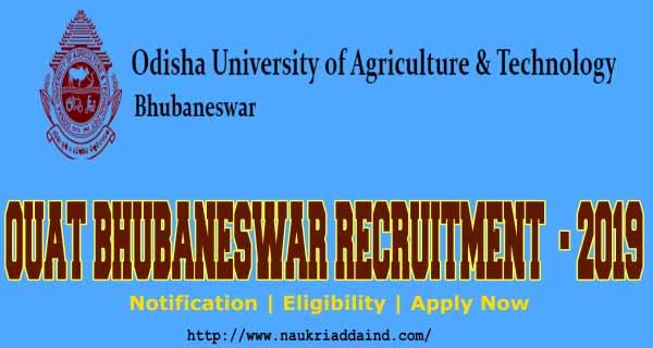 OUAT Bhubaneswar Recruitment