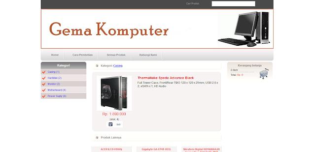 PHP MySQL E-Commerce Toko Komputer