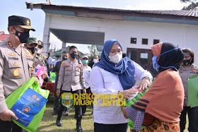 Bupati Masnah ikuti Apel Siaga Karhutla Bersama Kapolda Jambi di Desa Butung kecamatan Kumpeh