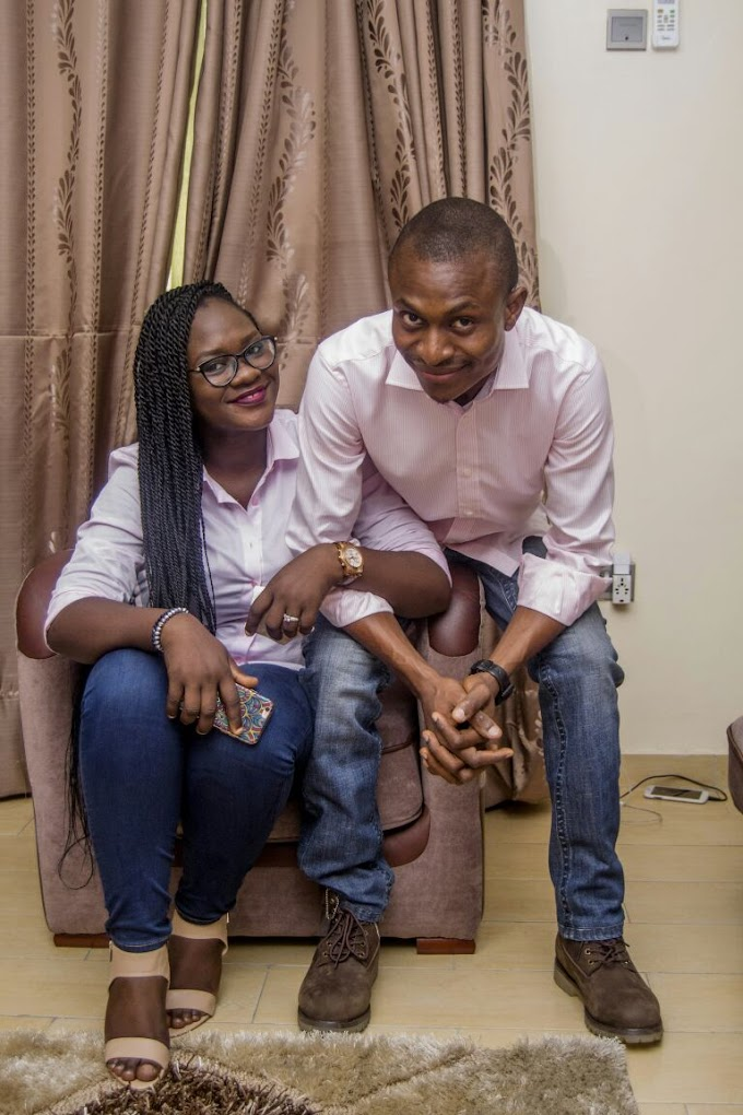 Check Out Fola And Femi's Simple And Straightforward Stylish Pre-Wedding Pictures.
