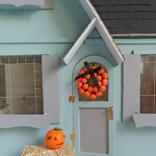 Fall Front Porch in Miniature