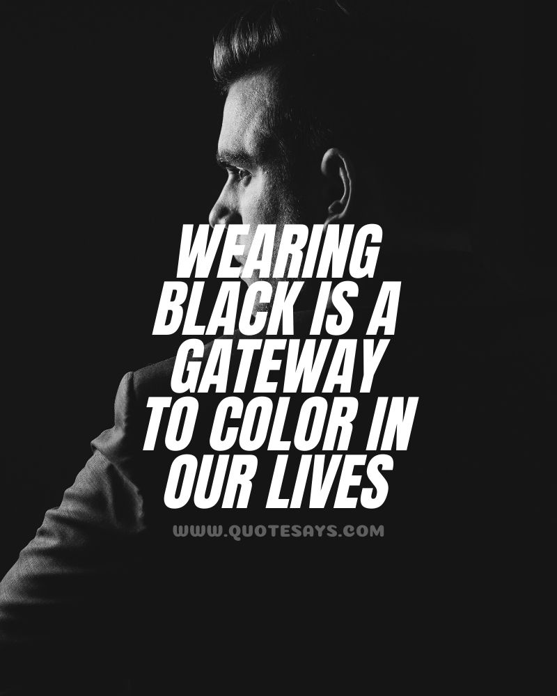 Quotes on black color