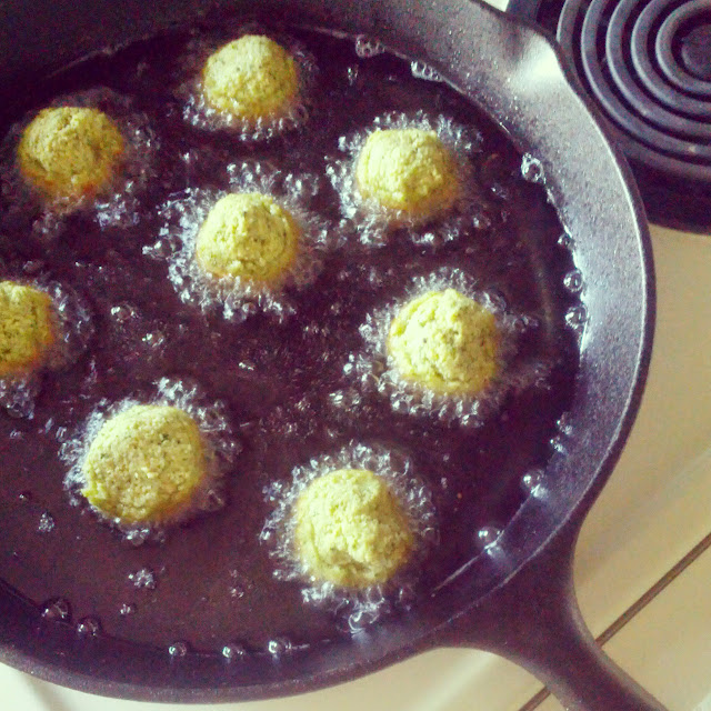 Frying Homemade Falafel | Taste As You Go