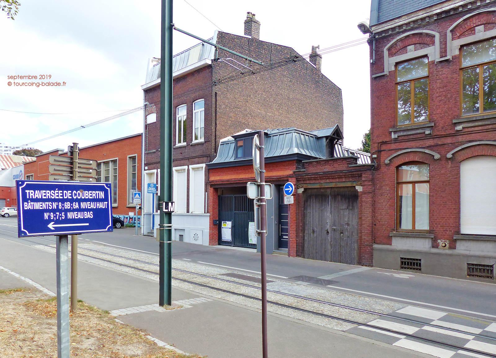 Tourcoing - Rue Chanzy et Traverse de Coubertin.
