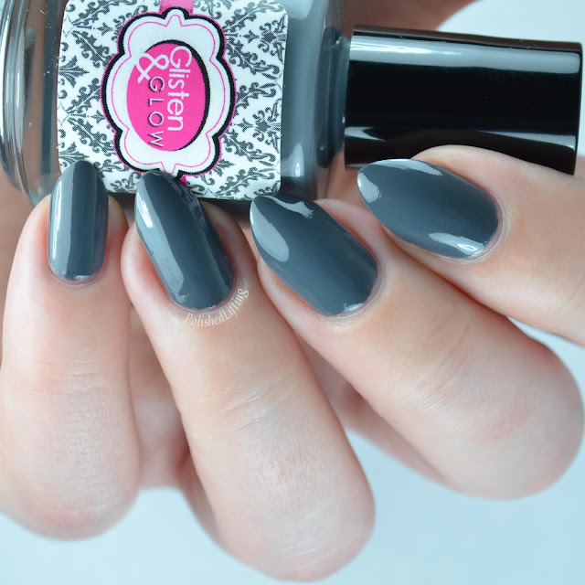 dark gray creme nail polish