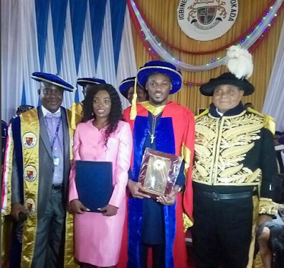 #2Baba Conferred With Honorary Degree At Igbinedion University (Photo)