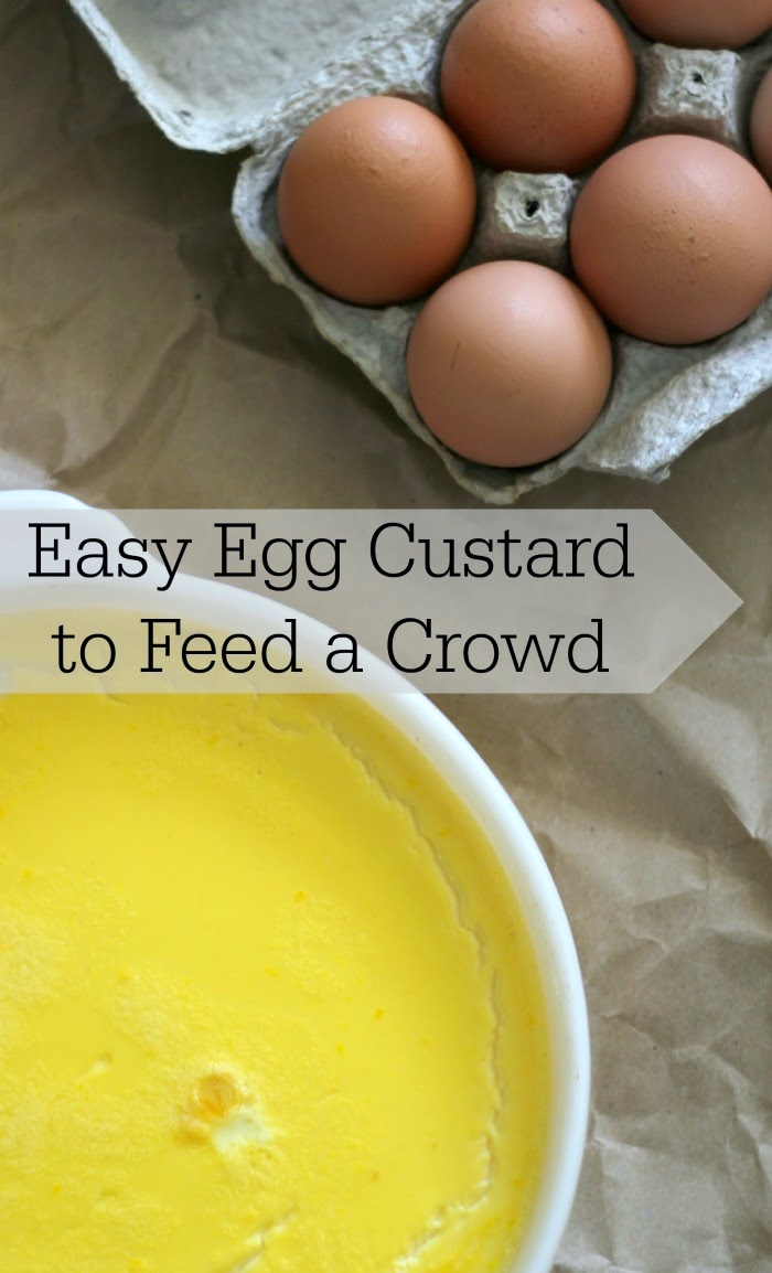 Use up your eggs in this delicious and easy egg custard that can feed a crowd!