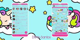 Star & Unicorn Theme For YOWhatsApp & Fouad WhatsApp By Driih Santos