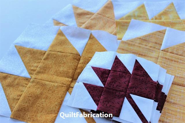 maple leaf blocks from QuiltFabrication