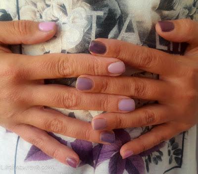 manicura tonos morados