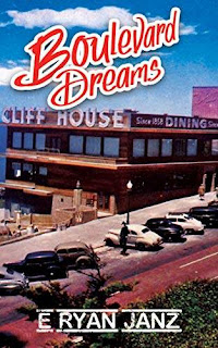 Boulevard Dreams - a twisting, shocking, cleverly funny noir mystery book promotion E Ryan Janz